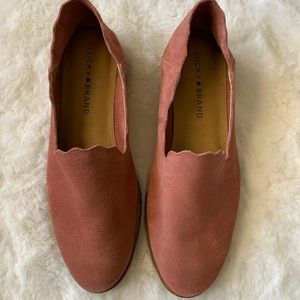 Lucky Brand Suede Slip On Dusty Rose Shoes